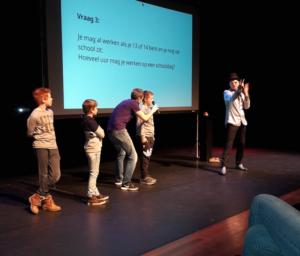 Interactie tijdens voorstelling